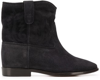 Isabel Marant Crisi embroidered ankle boots