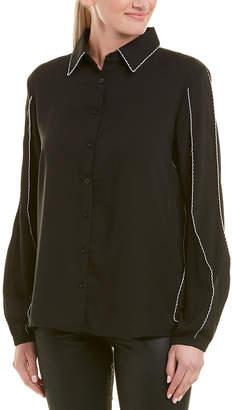 Few Moda Contrast Trim Simple Shirt