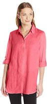 Calvin Klein Women's Linen Tunic with Knit Back