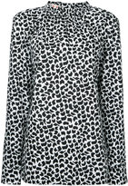 Marni geometric print long sleeve blouse - women - Cotton - 42