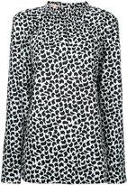 Marni geometric print long sleeve blouse - women - Cotton - 44