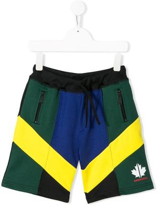 DSQUARED2 Colour-Block Track Shorts
