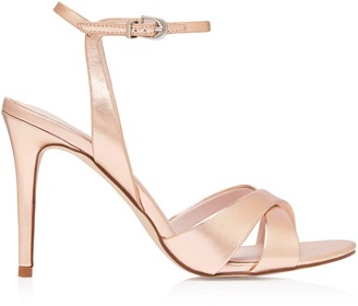 Forever New Oriana Heeled Sandals - Rose Gold - 41