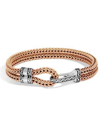 John Hardy Men's Classic Chain Sterling Silver & Bronze Station Bracelet