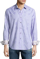 Robert Graham Malays Floral Check Sport Shirt