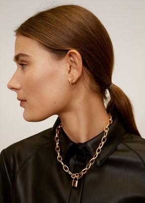 MANGO Padlock chain necklace