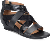 Sofft Rosaria Mixed-Media Wedge Sandals