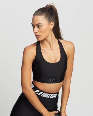 P.E Nation Women's Black Crop Tops - Baseline Endurance Sports Bra - Size XXS at The Iconic