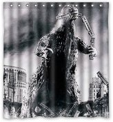 "Shower Curtains Fashionable Bathroom Collection-Custom Godzilla Custom Shower Curtain Bath Decor Curtain 66 "" X 72 """