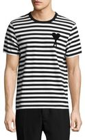 Ami Cotton Striped Tee