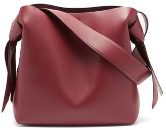 Acne Studios Musubi Medium Leather Shoulder Bag - Burgundy
