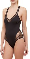 Kenneth Cole New York Women's Wrapped in Love Solid T-Back One Piece Mio Swimsuit