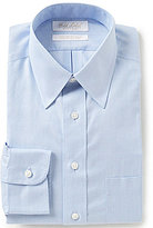 Roundtree & Yorke Gold Label Non-Iron Fitted Classic-Fit Herringbone Point-Collar Dress Shirt