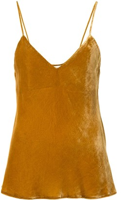 Mes Demoiselles Velvet Effect Tank Top