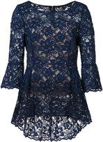 Oscar de la Renta boat neck floral lace blouse - women - Cotton/Nylon - 4