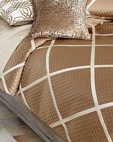 Isabella Collection Queen Braedon Lattice Duvet Cover