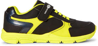 Geox Kids Boys) Black & Yellow Torque Running Sneakers