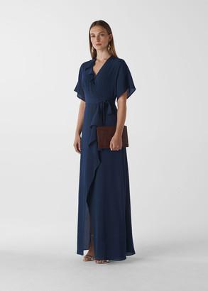 Nova Frill Wrap Maxi Dress