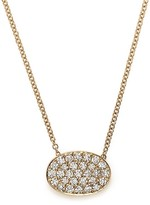 Bloomingdale's Diamond Pavé Oval Pendant Necklace in 14K Yellow Gold, .45 ct. t.w.