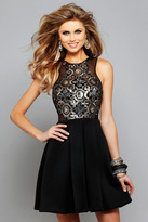 Faviana Enticing Sequined Cocktail Dress 7660