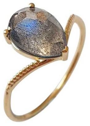 Perle de Lune Solo Nova Ring - Gold & Labradorite