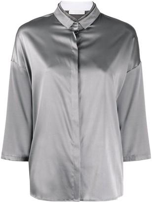 Fabiana Filippi Rhinestone Neckline Loose-Fit Shirt