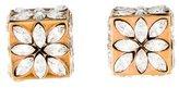 Vita Fede Crystal Cube Stud Earrings