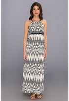 T-Bags LosAngeles Tbags Los Angeles Halter Maxi Dress w/ Contrast Straps & X-Back Detail