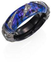 Alexis Bittar Crystal-Encrusted Origami Inlay Hinge Bracelet