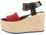 Celine Neoprene Wedge Sandals w/ Tags