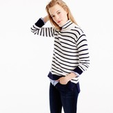 J.Crew Ribbed relaxed wool turtleneck sweater in stripe