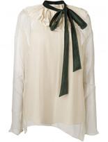 Chloé velvet collar blouse