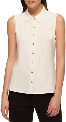 Tommy Hilfiger Sleeveless Button-Front Top