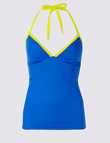 M&S Collection Plunge Tankini Top