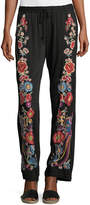Johnny Was Briyah Floral Embroidered Pants