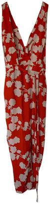 Diane von Furstenberg Red Silk Jumpsuits