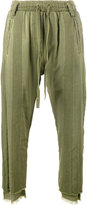 Haider Ackermann stripe washed cargo pants - women - Cotton/Spandex/Elastane - L