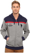 U.S. Polo Assn. Color Block Fleece Hooded Jacket