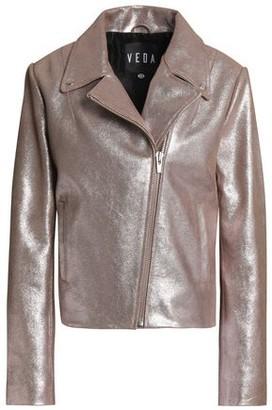 Veda Glittered Leather Biker Jacket