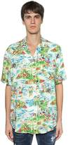 DSQUARED2 Hawaii Printed Viscose Bowling Shirt