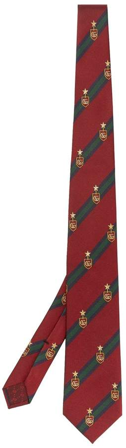 Gucci Logo-embroidered silk-blend tie