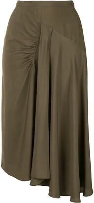 No.21 High-Waisted Draped Skirt
