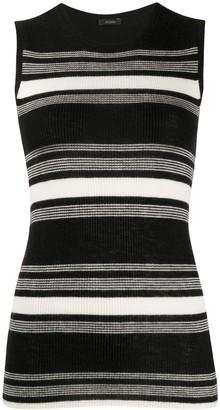 Joseph Horizontal-Stripe Knitted Top