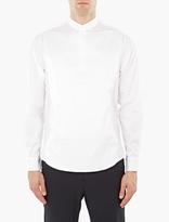 Wooyoungmi White Cotton Bib Officer Shirt