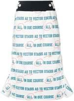 Sacai graphic print pencil skirt