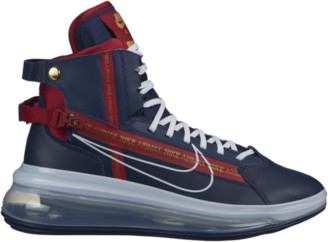 Nike 720 SATRN Basketball Shoes - Midnight Navy Blue / White Gym Red