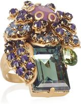 Swarovski Bijoux Heart Ernite gold-plated crystal ring