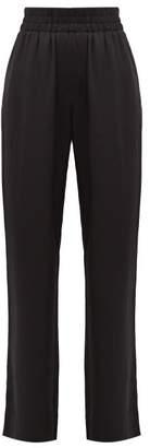 Burberry Seighford High-rise Silk-satin Trousers - Womens - Black