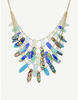 Kendra Scott Patricia mixed-tab shell and 14ct gold-plated necklace