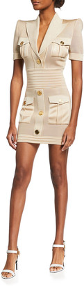 Balmain Cargo Mini Dress
